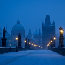 Prague morning blues
